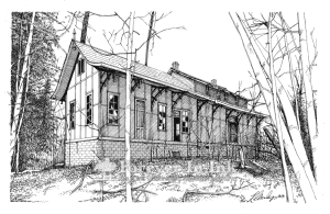 Hunlock Creek Station, Hunlock Creek, Pennsylvania (original drawing available)