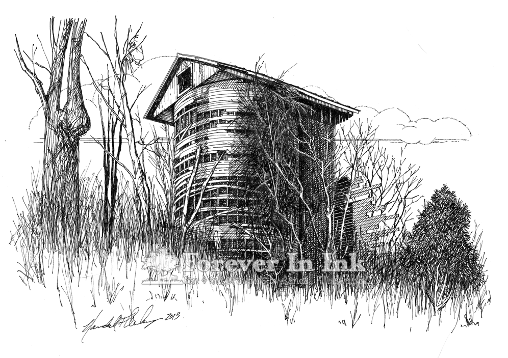 Wood Silo, Factoryville, Pennsylvania (original drawing available)